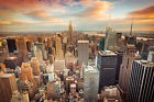 Papier Peint Photo INTISSÉ-(55V)NEW YORK-350x260cm 7 lés-Mural Manhattan Skyline