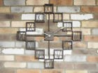 New Extra Large Vintage Antique Metal Decorative Wall Art Skeleton Clock 70cm