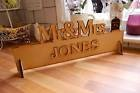 Mr & Mrs Top Table Wedding Wooden Decoration Sign (Blank Finish yoursel