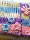 BABY SHAWL  CROCHET PATTERN-Quick and easy   IN MULTIPLE COLOURS         TJC07