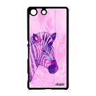 Coque pour Xperia M5 zebre dessin tanzanie rayé africain case metal tribal Sony