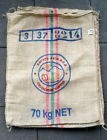 Lot de 4 Sac de cafe en toile de jute origine Colombie