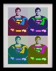SUPERMAN POP ART ANDY WARHOL STYLE A3 POSTER PRINT - LIMITED EDITION OF 100