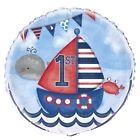 """Nautical 1st Birthday 18"""" Foil 