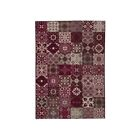 LUXUS Tapis de salon contemporain - 120x170cm - Rouge