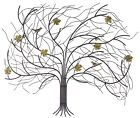Wall Art Decor Windswept Tree Garden Porch Home Stylish Design Iron Leaves Birds