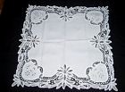 JOLIE NAPPE A THE OU NAPPERON BRODE MAIN N°8