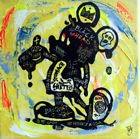 TABLEAU PEINTURE pop street art painting canvas MICKEY basquiat art free god