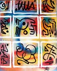 love positions TABLEAU pop street art abstrait painting french canvas signed