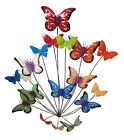 Contemporary Metal Wall Art Sculpture - Flutter Colour Butterflies 77 cm high