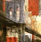 Craven Katrina : Brooklyn Bridge tableau prêt 45x45 mural PONT NEW YORK USA
