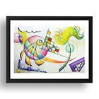 KandinskyWCPencil Painting 5 by Wassily Kandinsky, A3 Black Frame