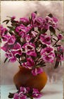 CP PHOTO VERITABLE EDITIONS DE LUXE VASE MARRON REMPLI DE FLEURS