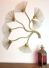 Large Contemporary METAL Abstract Dandelion Wall Art Sculpture Flower Gold 78cm