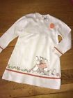 MAYORAL 18 Mois 86 Cm 2 ANS : Robe Automne Hiver Tricot Écru Motif Ours Lapin BE