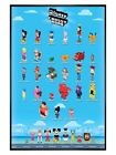 Walt Disney Gloss Black Framed Crossy Road Characters Poster 61 x 91.5cm