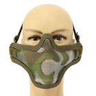 Acier Demi-masque Grillage Visage Camouflage Airsoft Paintball Protection Chasse