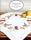 RICO Design Couverture broderie - Nappe milieu de table compl 80x80 cm Blackbird