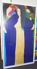 WALASSE TING DAME BLEUE AFFICHE EXPOSITION Offset Lithograph Poster 90/160 cm