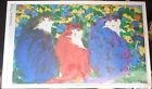 1991 WALASSE TING TROIS CHATS offset lithographic poster 80/132  cm