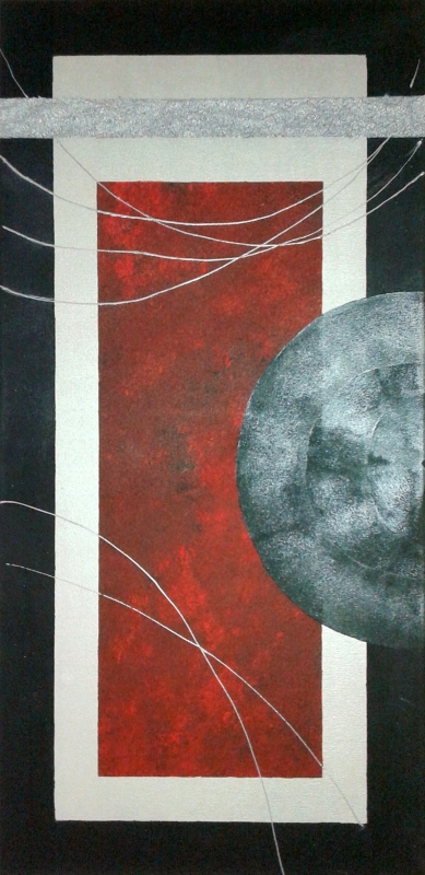 TABLEAU PEINTURE tableau peinture acr tableau abstrait tableau peinture tableau argent noir - Lune