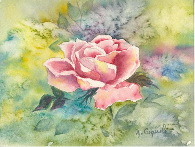 fleurs aquarelles peinture