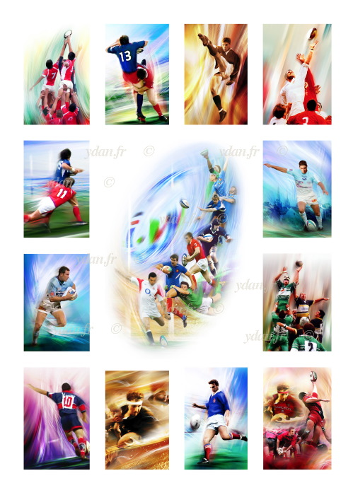 tableau peinture art rugby image rugbyman sport image poster art rugby reproduction ydan. Black Bedroom Furniture Sets. Home Design Ideas