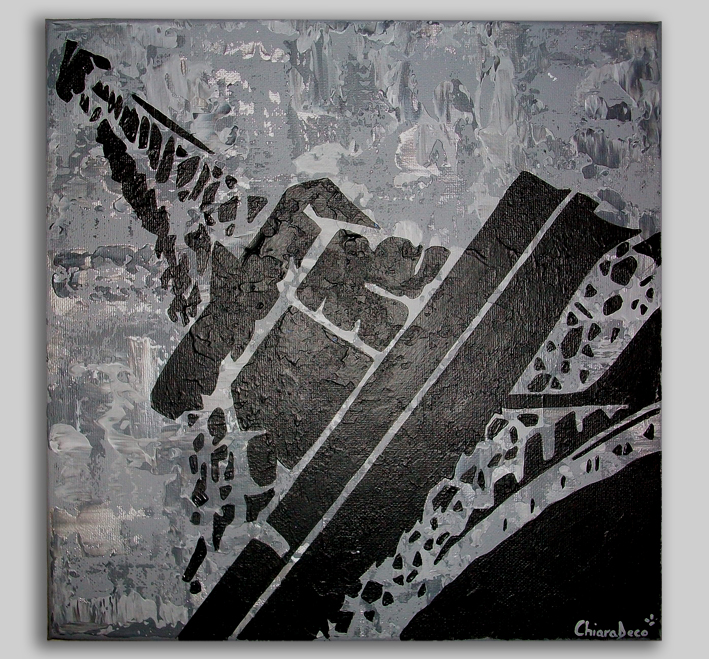 Tableau peinture art tableau paris tour eiffel noir for Peintures en noir et blanc