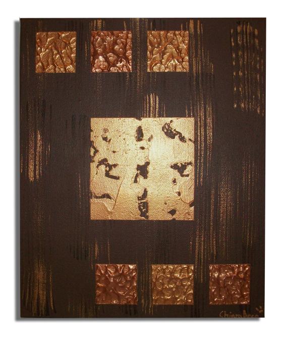 tableau peinture art toile marron moderne abtrait abstrait acrylique tableau marron dor or. Black Bedroom Furniture Sets. Home Design Ideas