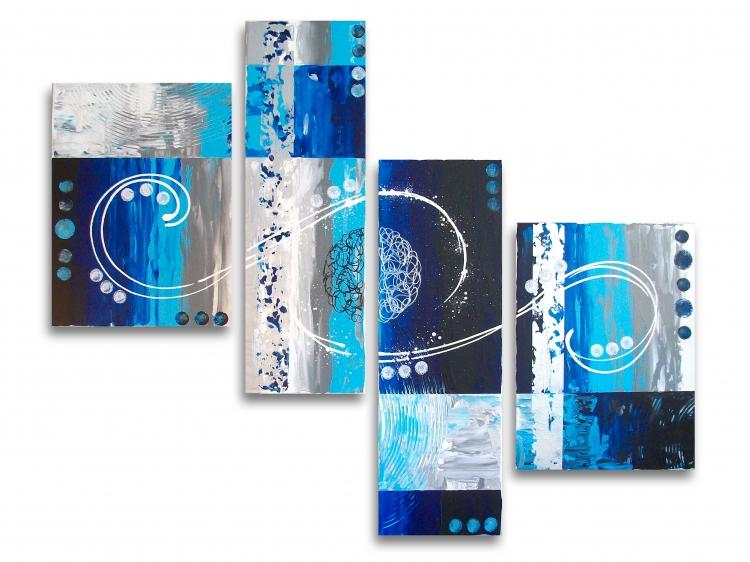tableau peinture tableau bleu galaxie design tableau toile bleu blanc gris noir design. Black Bedroom Furniture Sets. Home Design Ideas