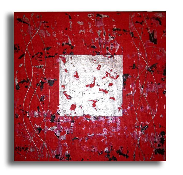 Tableau peinture art tableau toile moderne rouge abstrait acrylique tableau rouge noir moderne for Peinture acrylique sur toile moderne