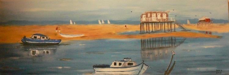 tableau peinture art tableau marin marine peinture marine bateau marine acrylique l 39 ile aux. Black Bedroom Furniture Sets. Home Design Ideas