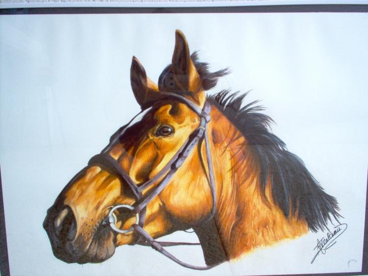 Extrêmement DESSIN cheval tête filet realisme - tête de cheval JI84