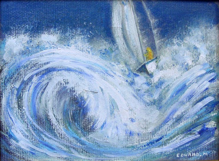 pin tableau peinture mer - photo #36