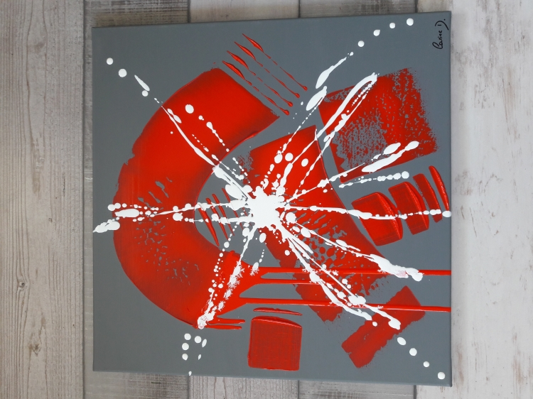 TABLEAU PEINTURE Abstrait Moderne Contemporain Gris - Dans la peau