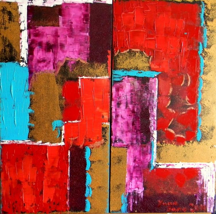 Tableau peinture art abstrait huile peinture art abstrait peinture a l 39 huile a la nouvelle anne for Photo de tableau abstrait