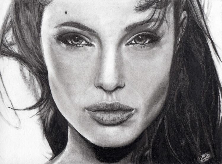 Connu DESSIN Angelina jolie portrait - Angelina Jolie CW04