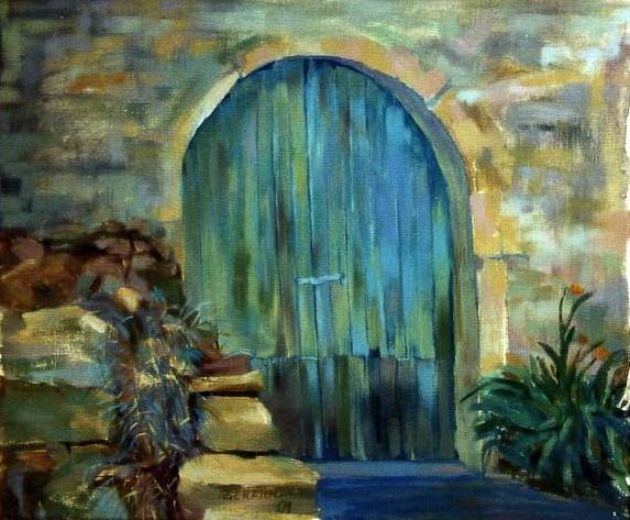 Tableau peinture art porte ferm lening paysages peinture a l 39 huile porte leningen luxembourg for Peinture porte bois