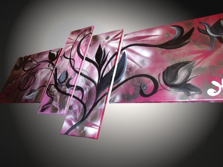 Decoration murale tableau design - Tableaux abstraits design contemporain ...