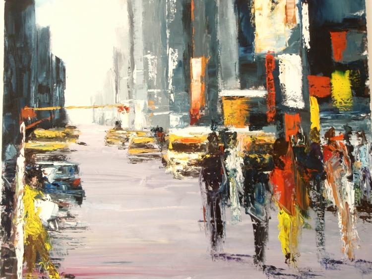 Tableau Peinture Art New York Ville Manhattan mouvement Villes ...