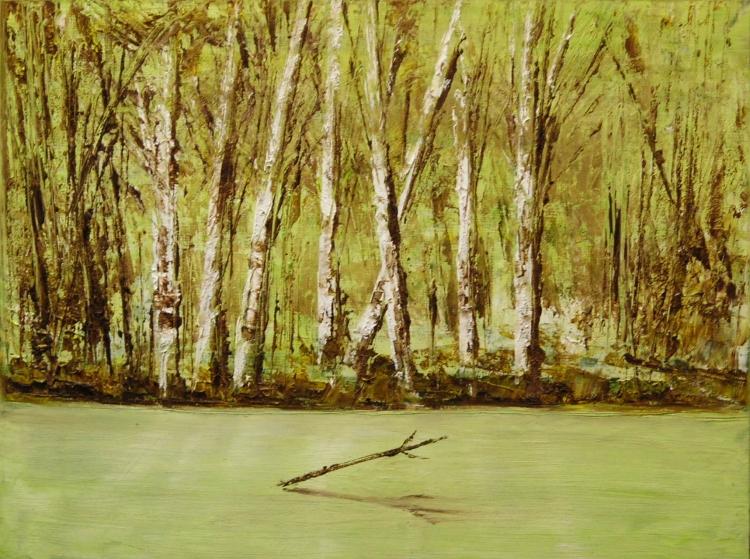 TABLEAU PEINTURE - En forêt d'Orléans