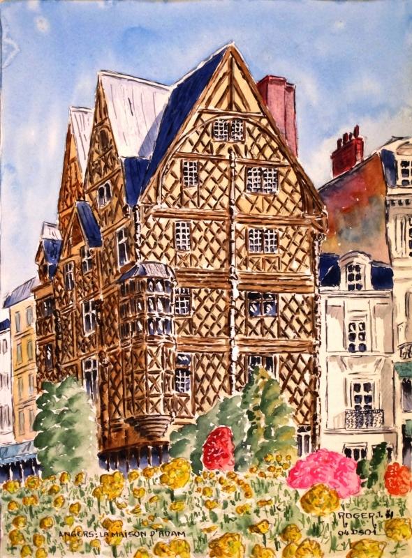 TABLEAU PEINTURE - La Maison d'Adam à Angers N°:04 DS 01