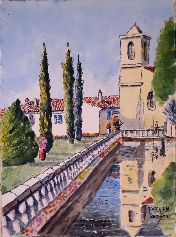 TABLEAU PEINTURE - Le couvent des Minimes à Mane en Provence N°:03 DS 04