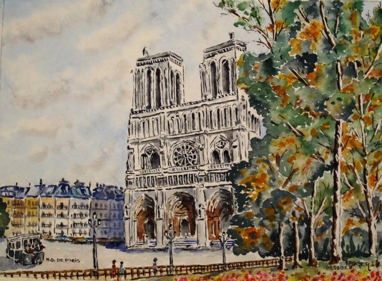TABLEAU PEINTURE - notre Dame de Paris N° : 02 DS 02