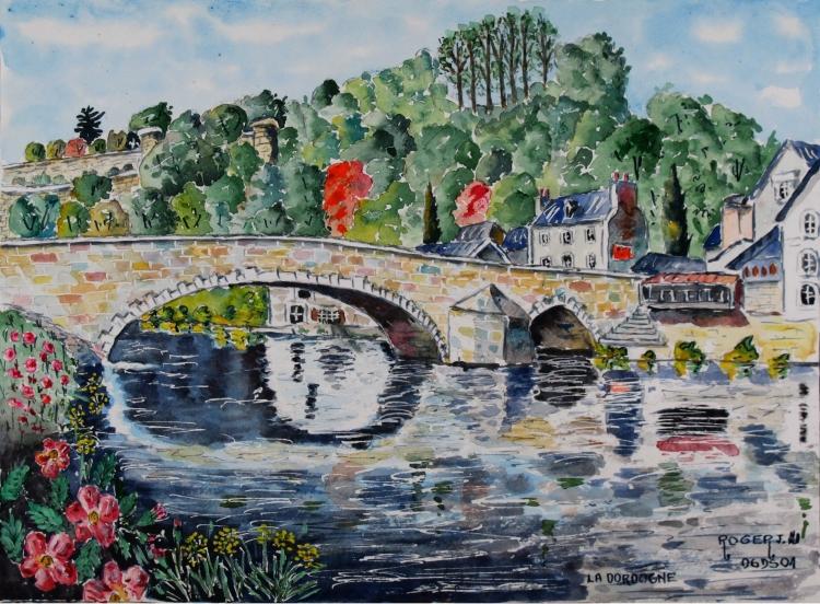 """TABLEAU PEINTURE - """"Dordogne"""" N°: 06 DS 01"""