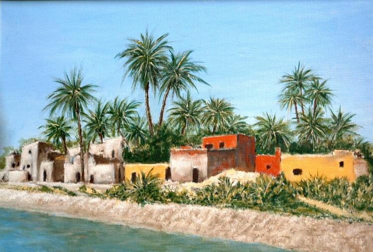 TABLEAU PEINTURE Egypye Nil Voyage - Au fil du Nil