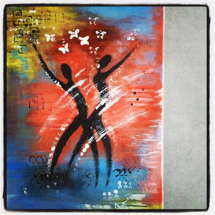 tableau peinture amour
