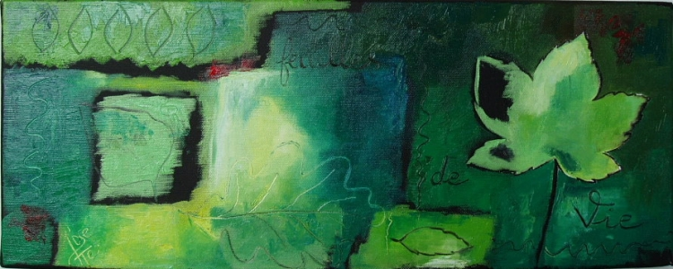 tableau peinture vert