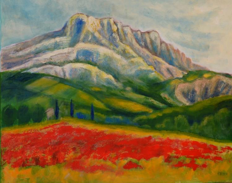Tableau Peinture Provence Aix En Provence  La Montagne Ste Victoire