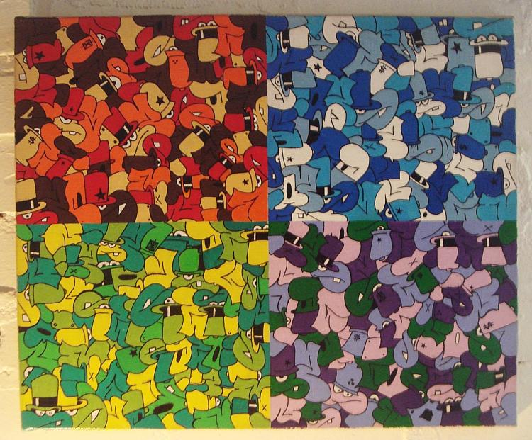 Préférence Tableau Peinture Art printemps autonome graff couleure Abstrait  CF94